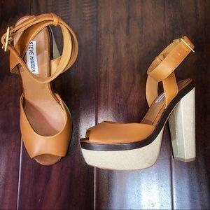 Steve Madden Leather Platform Heel